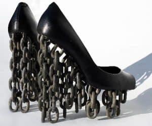 zapatos pesados