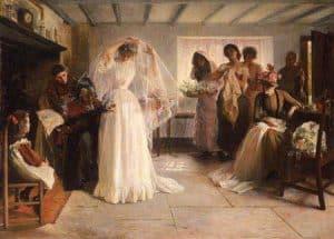 vestido de novia en el siglo XIX