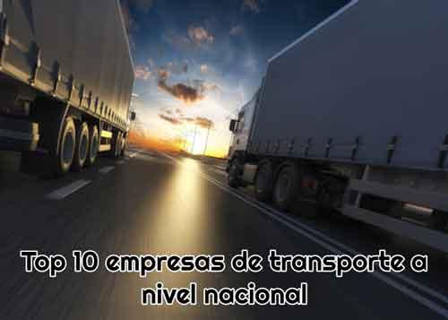 top empresas de transporte nacionales