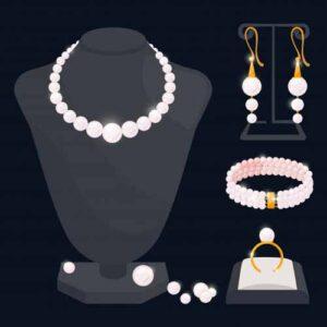 accesorios con joyas y perlas